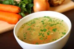 εύγευστη σούπα κοτόπου&lam Στοκ Φωτογραφίες