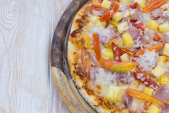 εύγευστη της Χαβάης πίτσα Στοκ Φωτογραφίες