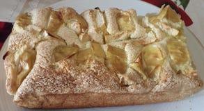 Εύγευστη χρυσή πίτα μήλων κρουστών τροφίμων στοκ εικόνες με δικαίωμα ελεύθερης χρήσης