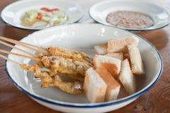 Εύγευστος ασιατικός χοίρος Satay κουζίνας Στοκ Εικόνες