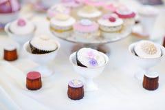 Εύγευστος ζωηρόχρωμος γάμος cupcakes Στοκ φωτογραφίες με δικαίωμα ελεύθερης χρήσης