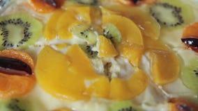 εύγευστος καρπός κέικ απόθεμα βίντεο