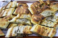 Εύγευστος κομματιάστε kır το pidesi στοκ εικόνες