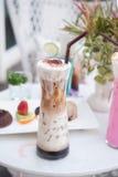 Εύγευστος παγωμένος καφές με τον αφρό Στοκ εικόνα με δικαίωμα ελεύθερης χρήσης