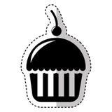 Εύγευστο απομονωμένο cupcake εικονίδιο Στοκ εικόνα με δικαίωμα ελεύθερης χρήσης