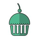 Εύγευστο απομονωμένο cupcake εικονίδιο Στοκ Φωτογραφία