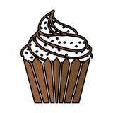 Εύγευστο απομονωμένο cupcake εικονίδιο Στοκ φωτογραφία με δικαίωμα ελεύθερης χρήσης