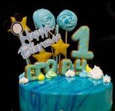 Εύγευστο γλυκό δώρο γενεθλίων διακοπών κεριών φραγμών καραμελών κέικ στοκ εικόνες