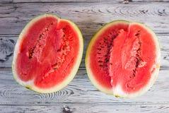 Εύγευστο γλυκό καρπούζι Ώριμος, κόκκινος, καρπούζι Στοκ φωτογραφίες με δικαίωμα ελεύθερης χρήσης