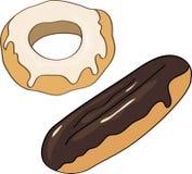 Εύγευστο γλυκό doughnut διάνυσμα Στοκ Εικόνα