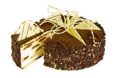 Εύγευστο εορταστικό κέικ μπισκότων με τη σοκολάτα Στοκ φωτογραφία με δικαίωμα ελεύθερης χρήσης