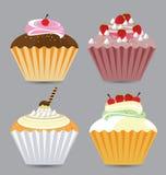 Εύγευστο διανυσματικό Cupcakes Στοκ εικόνα με δικαίωμα ελεύθερης χρήσης