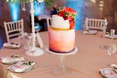 Εύγευστο κέικ για το γάμο Στοκ Εικόνα