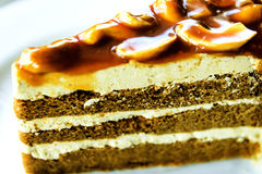 Εύγευστο κέικ καφέ Στοκ Εικόνες