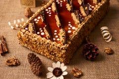 Εύγευστο κέικ μπισκότων με τη σοκολάτα Στοκ φωτογραφία με δικαίωμα ελεύθερης χρήσης