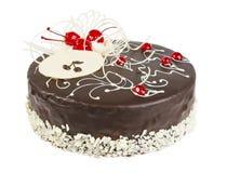 Εύγευστο κέικ μπισκότων με τη σοκολάτα Στοκ Φωτογραφίες