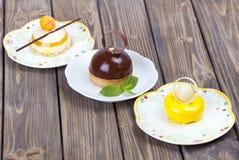Εύγευστο κέικ σοκολάτας λεμονιών Στοκ εικόνες με δικαίωμα ελεύθερης χρήσης