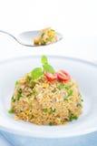 Εύγευστο κινεζικό τηγανισμένο αυγό ρύζι να δειπνήσει στον πίνακα Στοκ Φωτογραφία