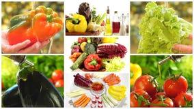 Εύγευστο κολάζ λαχανικών απόθεμα βίντεο