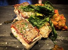 Εύγευστο πιάτο ψαριών μπακαλιάρων Στοκ Φωτογραφίες