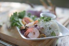 Εύγευστο ρύζι με τα θαλασσινά Στοκ Φωτογραφίες