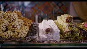 Εύγευστο τουρκικό baklava σε Bazaar φιλμ μικρού μήκους
