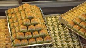 Εύγευστο τουρκικό baklava στη Ιστανμπούλ απόθεμα βίντεο