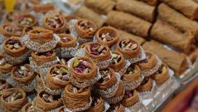 Εύγευστο τουρκικό baklava στη Ιστανμπούλ φιλμ μικρού μήκους