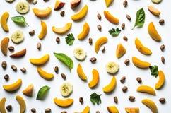 Εύγευστο υπόβαθρο φρούτων και μούρων Στοκ Φωτογραφία
