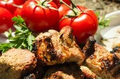 Εύγευστο ψημένο στη σχάρα κρέας χοιρινού κρέατος Στοκ Εικόνα
