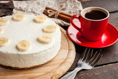 Εύγευστο cheesecake μπανανών Στοκ Εικόνα