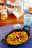 Εύγευστο risotto θαλασσινών Στοκ Φωτογραφίες