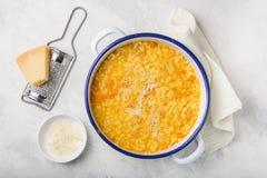 Εύγευστο risotto κολοκύθας με το τυρί παρμεζάνας Στοκ Φωτογραφίες