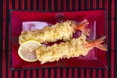 Εύγευστο tempura γαρίδων Στοκ εικόνα με δικαίωμα ελεύθερης χρήσης