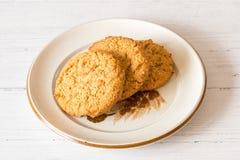 Εύθρυπτα Oatmeal μπισκότα ακριβώς από το φούρνο στοκ φωτογραφία με δικαίωμα ελεύθερης χρήσης