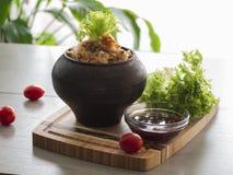 Εύθρυπτο φαγόπυρο με το βούτυρο, τρόφιμα υγιή Στοκ Φωτογραφία