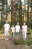 Εύθυμα αγόρια με τους παππούδες και γιαγιάδες του που έχουν τη διασκέδαση στοκ φωτογραφία με δικαίωμα ελεύθερης χρήσης