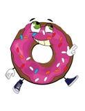 Εύθυμα doughnut κινούμενα σχέδια Στοκ Φωτογραφία
