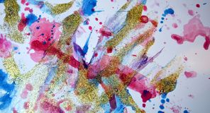 Εύθυμες μορφές κρητιδογραφιών χρωμάτων άσπρες κίτρινες, αφηρημένα χρώματα κρητιδογραφιών Στοκ φωτογραφία με δικαίωμα ελεύθερης χρήσης