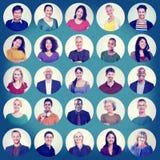 Εύθυμη έννοια ομάδας Multiethnic πορτρέτου προσώπων ανθρώπων Στοκ φωτογραφία με δικαίωμα ελεύθερης χρήσης