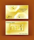 Εύθυμη επαγγελματική κάρτα με τις επιστολές API Στοκ Φωτογραφία