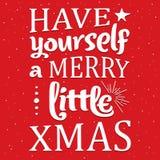 Εύθυμη ευχετήρια κάρτα Χριστουγέννων ελεύθερη απεικόνιση δικαιώματος