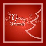 εύθυμη κάρτα Χριστουγένν&omega Λαμπρή γιρλάντα με το δέντρο και snowflakes έλατου Στοκ Φωτογραφίες