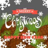 εύθυμη κάρτα Χριστουγένν&omega ελεύθερη απεικόνιση δικαιώματος