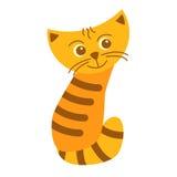 Εύθυμη κόκκινη γάτα Στοκ Εικόνες
