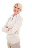 Εύθυμη μέση ηλικίας γυναίκα Στοκ Εικόνες
