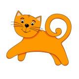 Εύθυμη πορτοκαλιά γάτα Στοκ Εικόνες