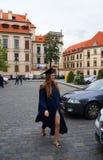 Εύθυμη τελειωμένη κορίτσι μελέτη Στοκ Εικόνες