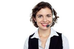 Εύθυμος ανώτερος υπάλληλος προσοχής πελατών Στοκ φωτογραφία με δικαίωμα ελεύθερης χρήσης