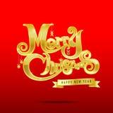 012-εύθυμος κείμενο 003 Χριστουγέννων διανυσματική απεικόνιση